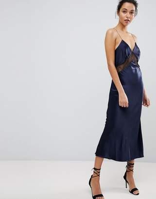 Bec & Bridge Lace Insert Cami Midi Dress