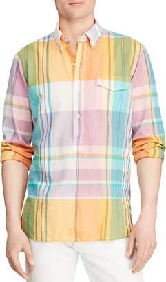 Polo Ralph Lauren Plaid Madras Custom Fit Button-Down Pullover Shirt