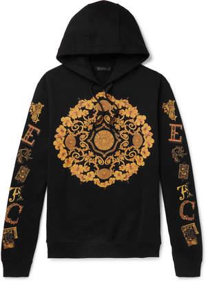 Versace Logo-Print Loopback Cotton-Jersey Hoodie