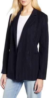 Halogen Stripe Suit Jacket