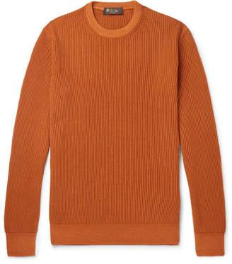 Loro Piana Garment-Dyed Ribbed Cashmere Sweater - Men - Orange