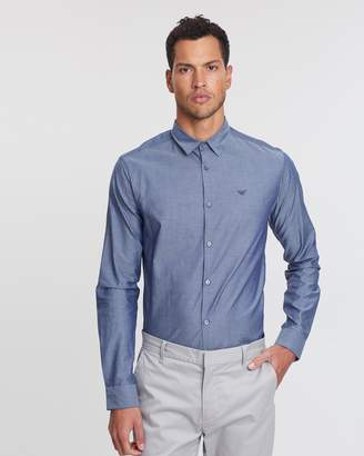 Emporio Armani LS Cotton Poplin Shirt