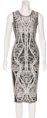 Herve Leger Sleeveless Bodycon Dress