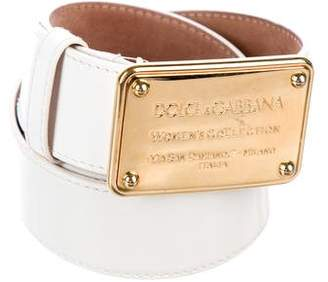 Dolce & Gabbana Patent Leather Logo Belt
