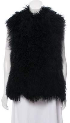 MICHAEL Michael Kors Mongolian Fur Vest