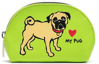 Marc Tetro Extra Small Green Pug Cosmetic Bag