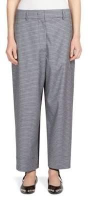 Alberta Ferretti Plaid Wool-Blend Pants