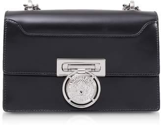 Balmain Black Smooth Leather BBox 20 Flap Shoulder Bag