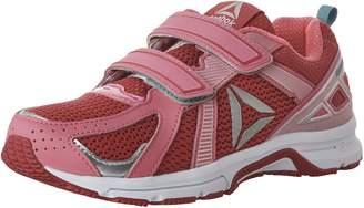 Reebok Kids Runner Velcro Closure Running Shoes, Pink Craze/Solar Pink/Timeless Teal/Silver