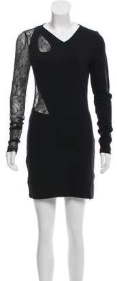 Versus Lace-Accented Bodycon Dress