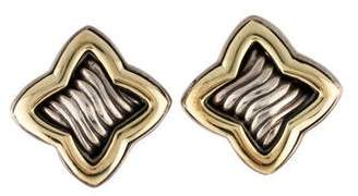 David Yurman Two-Tone Quatrefoil Stud Earrings