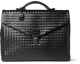 Bottega Veneta Intrecciato Leather Briefcase - Black