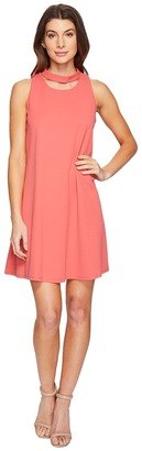 Christin Michaels - Harlyn Sleeveless Dress with Neckline Detail Women's Dress $134 thestylecure.com