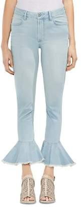 Vince Camuto Frayed Flare-Hem Jeans in Surf Wash