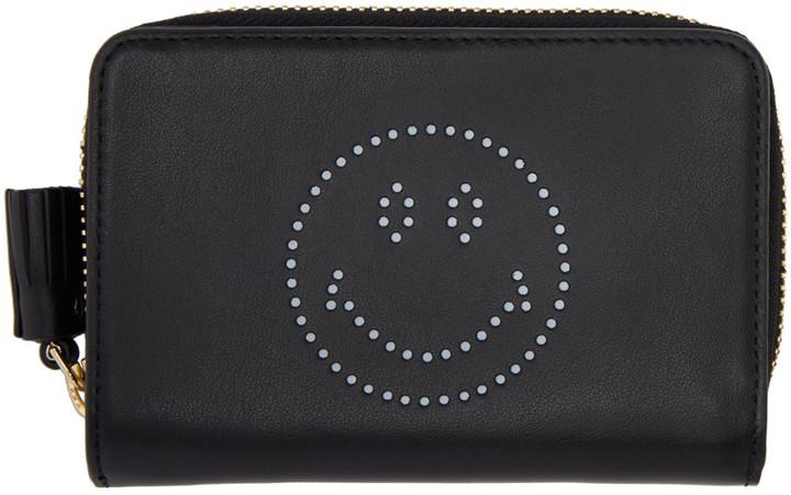 Anya HindmarchAnya Hindmarch Black Compact Wink Wallet