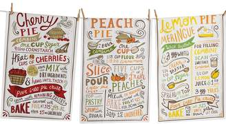 Design Imports Warm Tone Pie Recipes Cotton Dishtowels (Set of 3)