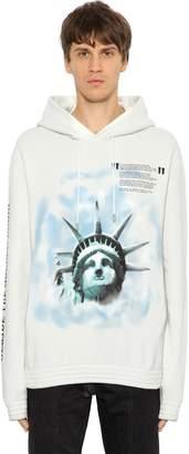 Off-White Over Statue Of Liberty Sweatshirt Hoodie