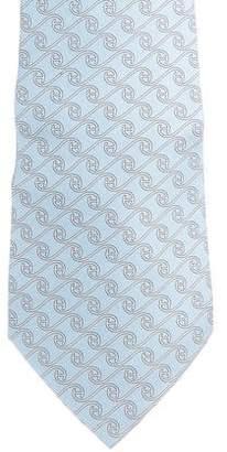 Hermes Stylized H Silk Tie