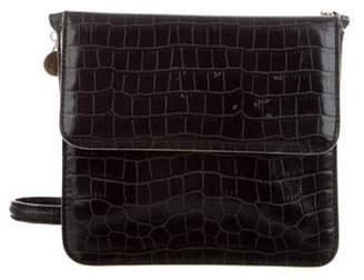 Stella McCartney Embossed Vegan Leather Crossbody bag Black Embossed Vegan Leather Crossbody bag