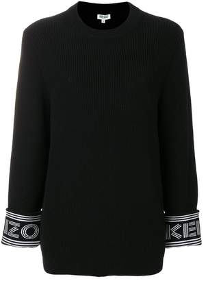 Kenzo logo ribbed pullover