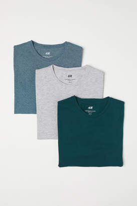 H&M 3-pack T-shirts Slim fit - Green
