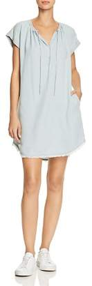 Splendid Frayed Chambray Shift Dress