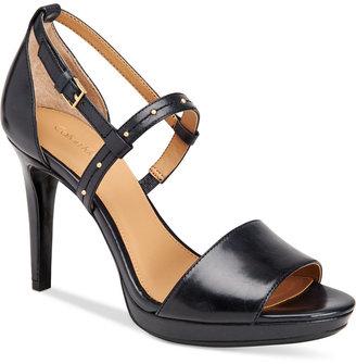 Calvin Klein Women's Pianna Siriana Platform Sandals $109 thestylecure.com