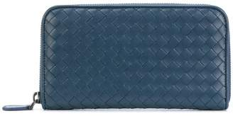 Bottega Veneta denim nappa zip-around wallet