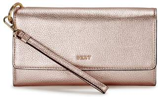 DKNY Chelsea Pale Rose Gold Leather Wallet