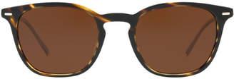 Oliver Peoples Ov5364su 51 Heaton Brown Rectangle Sunglasses