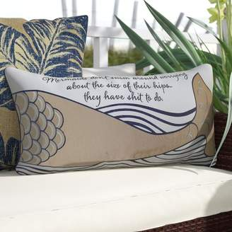 Longshore Tides Briese Mermaid Inspiration Lumbar Pillow