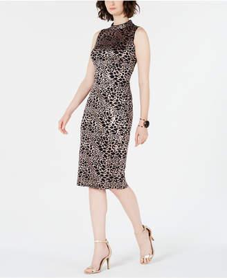 INC International Concepts I.n.c. Mock-Neck Sequin-Lace Dress