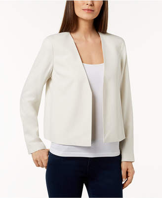 Eileen Fisher Silk Open-Front Jacket