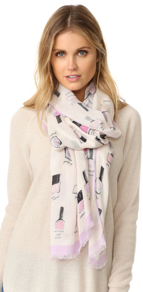 Kate Spade New York Nail Polish Oblong Scarf $98 thestylecure.com