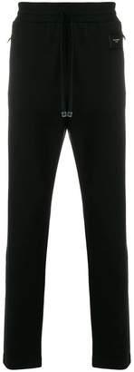 Dolce & Gabbana logo patch slim fit sweatpants