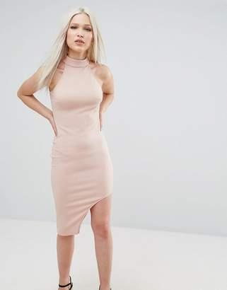 AX Paris High Neck Asymmetric Bodycon Dress