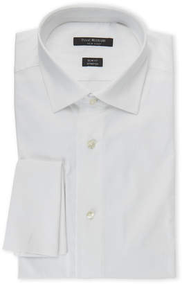 Isaac Mizrahi White Slim Fit Stretch Dress Shirt