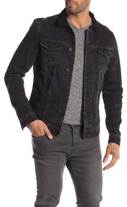 AllSaints Donlington Suede Collar Denim Jacket