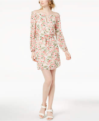 Maison Jules Off-The-Shoulder Floral-Print Dress