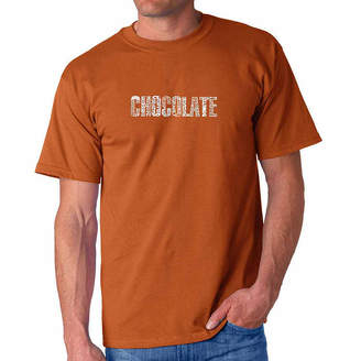 LOS ANGELES POP ART Los Angeles Pop Art Different Foods Made With Chocolate Short Sleeve Word Art T-Shirt - Big and Tall
