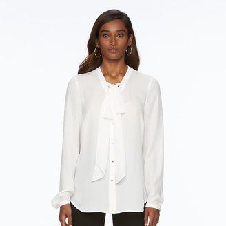Women's Apt. 9® Chiffon Tie-Neck Blouse $36 thestylecure.com