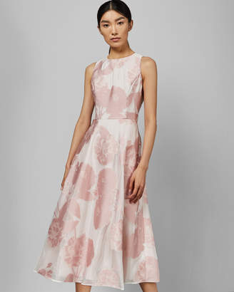 Ted Baker WYLIEH Sleeveless floral midi dress