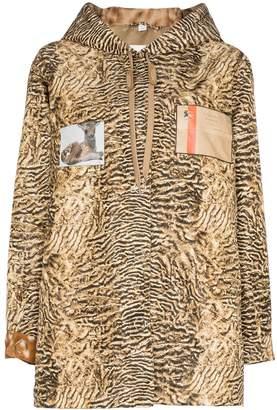 Burberry tiger-print lightweight jacket