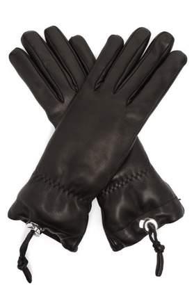Jil Sander Drawstring Leather Gloves - Womens - Black