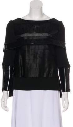 Undercover Long Sleeve Belted Top