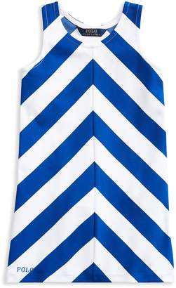 Ralph Lauren Childrenswear Girl's Chevron A-Line Dress