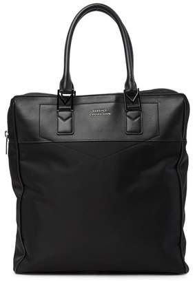 Versace Nylon & Leather Tote