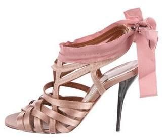 Lanvin Satin Caged Sandals