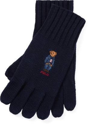 Ralph Lauren Polo Bear Knit Gloves