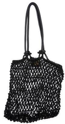 Clare Vivier Leather-Accented Woven Tote